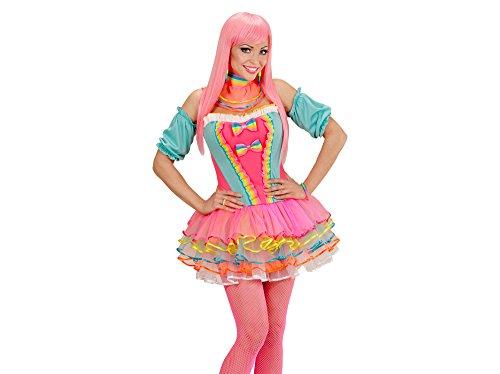 Widmann 49481 - Erwachsenenkostüm Rainbow Fantasy Girl, Korsett, Tütü, Oberarmstulpen und Halsband (Korsett Fantasien)