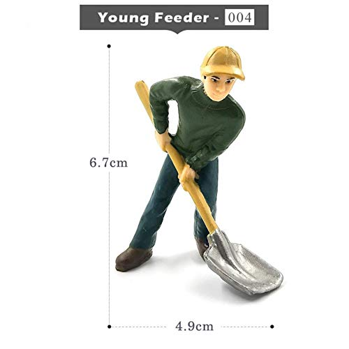 Farm Staff Worker Farmer Simulation Menschen Modell Bonsai Figur Wohnkultur Miniatur Fee Garten Dekoration Zubehör modern, Young-Feeder -