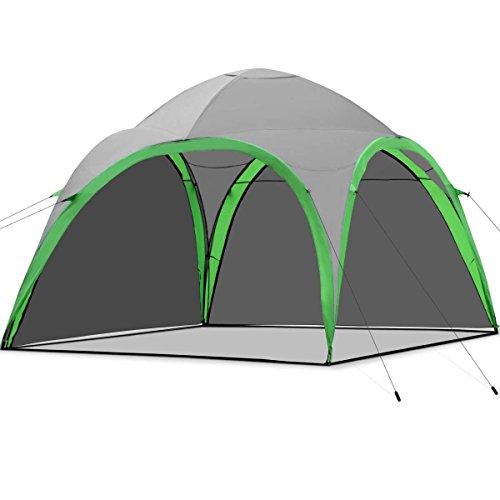COSTWAY Tienda de Campaña Familiar Portátil Jardín Pabellón Impermeable Ventilada para Aire Libre Camping Playa Viaje Picnic 320 x 320 x 250cm con Bolsa de Transporte