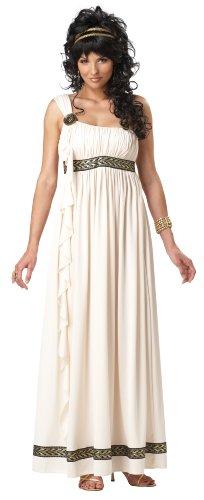 California Costumes Griechische Göttin Damenkostüm Weiss-beige XL - Womens Toga Kostüm Griechische