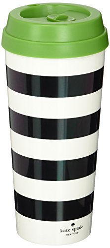 kate spade new york Thermal Mug - Black Stripe by kate spade new york Kate Spade Spade