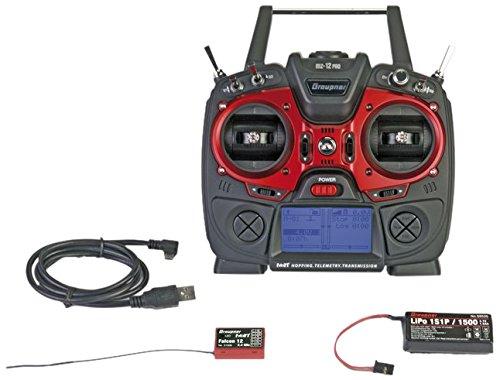 Preisvergleich Produktbild Graupner S1002.PRO.DE Fernsteuerung Mz-12 Pro, Empfänger Falcon 12