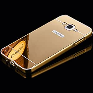 Luxury Mirror back cover for Samsung Galaxy On5 Golden