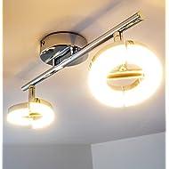 Barre de spots LED Paris - 2 x 6 Watt - 420 lumen par spot - 840 Lumen - Blanc chaud
