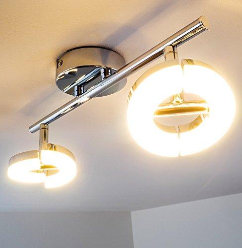 Preisvergleich led deckenspot paris 2 flammig moderne for Wohnzimmerleuchte decke