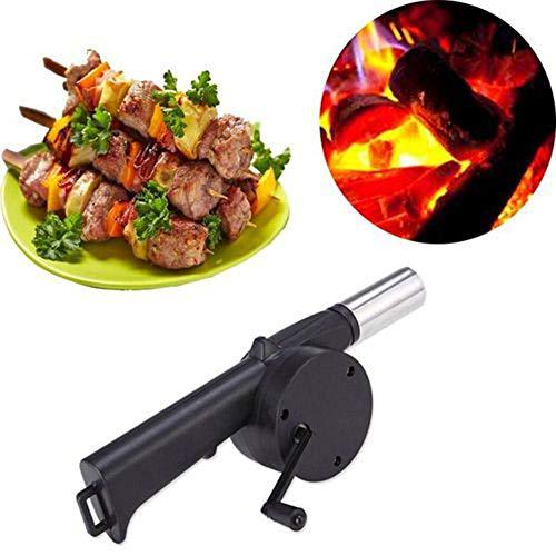 lymty Upgrade Tragbare Mini Handkurbel Fan Gebläse, Manuelle Grill Feuer Starter Flamme Exciter für BBQ Picknick Outdoor Camping Wandern Kochwerkzeug -