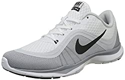 Nike Women's Flex Trainer Multisport Indoor Shoes, Blanco (Whiteanthrct-pr Pltnm-wlf Gry), 5 Uk