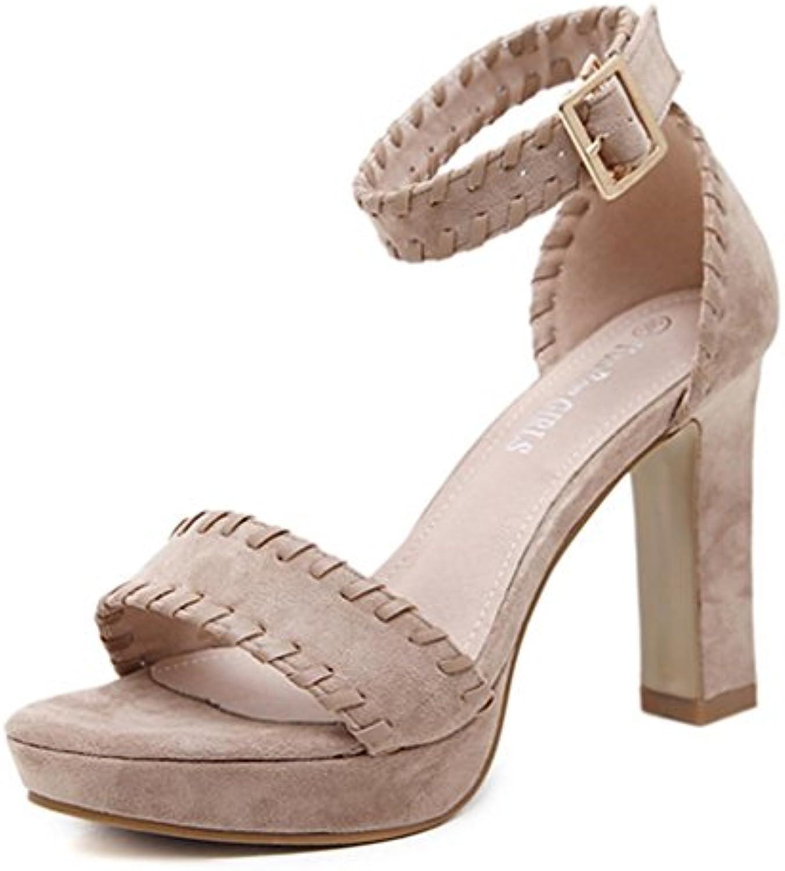 Lh$yu Sandalias de Mujer  Zapatos Sandalias De TacóN Alto Color De Verano Rhinestones Banquete De Oro Hueco Partido... -