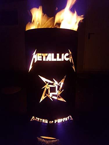 feuer tonne Tiko-Metalldesign Metallica Feuertonne/Feuerkorb mit 2 Motiven