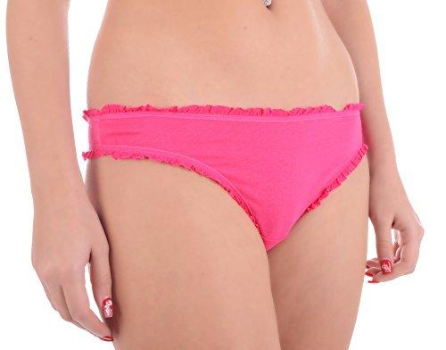 Strings Tanga Slip Schlüpfer Unterhose Bikinis Damen Dessous Hot Pink