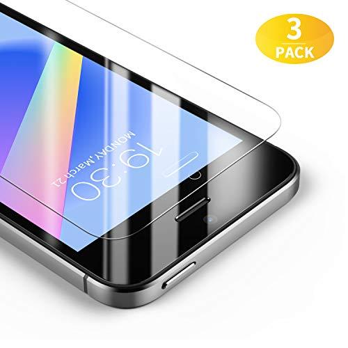 BANNIO [3 Stück Panzerglas für iPhone SE / 5S / 5C / 5, HD Ultra-klar Panzerglasfolie, 9H Härte, Anti-Öl, Anti-Kratzen und Fingerabdrücke, Blasenfrei, Leicht Anzubringen