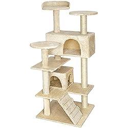 TecTake Rascador Árbol para gatos Sisal - disponible en diferentes colores - (Beige | No. 401770)