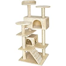 TecTake Rascador Árbol para gatos Sisal - disponible en diferentes colores - (Beige | No