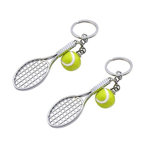 Scopri offerta per STOBOK 2pcs Racchetta da Tennis Portachiavi Sport Portachiavi a Sfera Ciondolo Portachiavi per Chiavi Borsa Borsa (Verde)