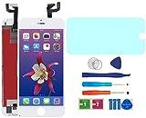 "AUODA Pantalla Táctil LCD Para Iphone 6S (4.7"") Táctil Reemplazo Marco Digital Conjunto Completo &Vidrio Protector (Blanco)"