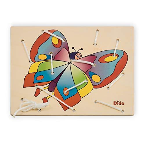 Dida - Lacing Toy - Bastidor de Lazos - Mariposa