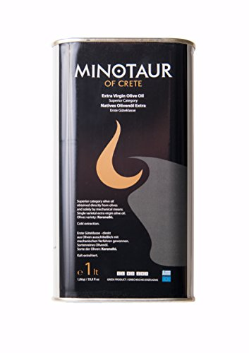 Preisvergleich Produktbild Minotaur of Crete | Extra Natives Premium Olivenöl aus Kreta | Kaltextraxiert | 1 Liter (1L)