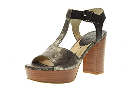 Fabbrica Dei Colli Chaussures Femmes Sandales à Talons Hauts 1URBAN100 Grey Taille 38 Gris