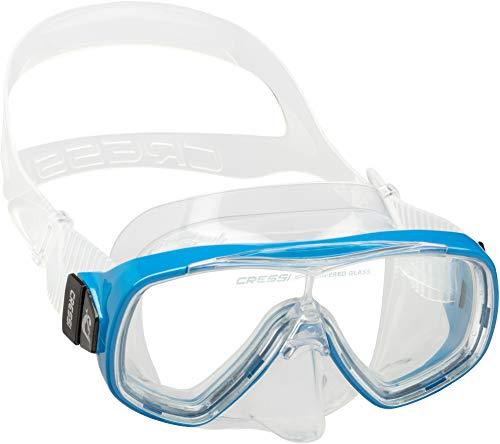 Cressi Ondina Jr Mask Gafas de Snorkeling, Unisex niños, Azul