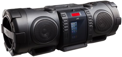 Ipod Dock Fm Radio (JVC RV-NB75BE BoomBlaster Subwoofer-System mit geschlossenem Apple iPod-Dock)