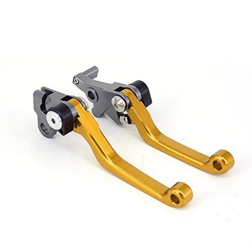 Un Xin Moto CNC Billet Pivot Pliable Embrayage leviers de Frein pour Honda Xr250 Motard 95-07 Crm250r Crm250ar 94-99 XR400 Motard 05-08 Moto Doré