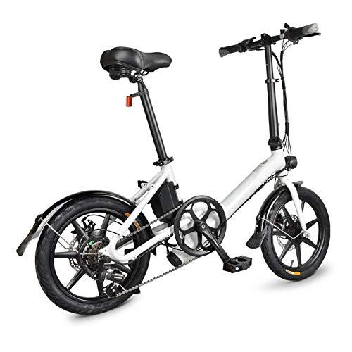 VáraKozá pedelec,e-Bike gebraucht,e-Bike Herren,Elektro Fahrrad,elektrofahrräder Elektrisches Fahrrad-Fahrrad-Leichter Aluminiumlegierungs-16 Zoll 250W Naben-Motor lässig für im Freien