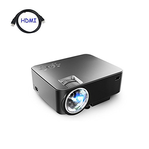 Dinlly B20 1500 Lumens Mini Projector , Multimedia Home Theater Video Projector Support Full HD 1080p USB HDMI AV SD VGA For TV Laptop Games Home Cinema Outdoor Indoor Movies