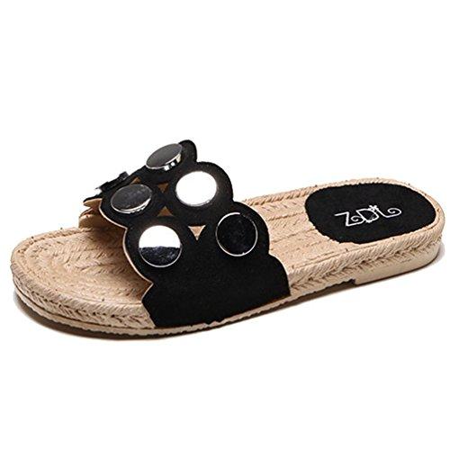 JRenok Frauen Sandalen Flip Flops Hausschuhe Rutschfest Slip-on Elegant Sommer Outdoor Casual Flache Rutsche Sandalen