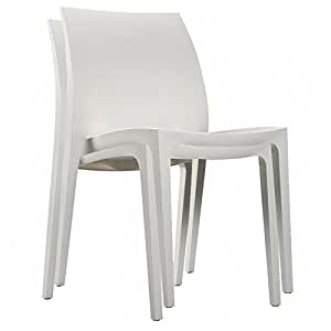 Allibert Sento extérieur Blanc Garden Lot de 2 chaises de salle à manger?