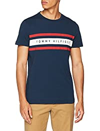 Tommy Hilfiger Men's Logo Band Graphic Tee T-Shirt