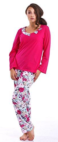dn-nightwear Damen Schlafanzug, Pyjama PB.6033 Rose