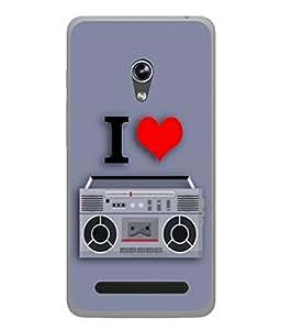 PrintVisa Designer Back Case Cover for Asus Zenfone 5 A501CG (Love Lovely Attitude Men Man Manly)