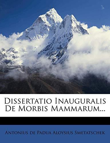 Dissertatio Inauguralis de Morbis Mammarum...