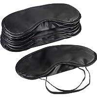 Lvcky 10Stück Augen Maske Schatten Abdeckung Augenbinde Travel Schlaf Cover mit Nase Pad, Schwarz preisvergleich bei billige-tabletten.eu