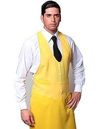 Fratelliditalia Grembiule pettorina divisa cucina ristorante gilet uomo  sala pizzeria bar chef 421d4e0c008