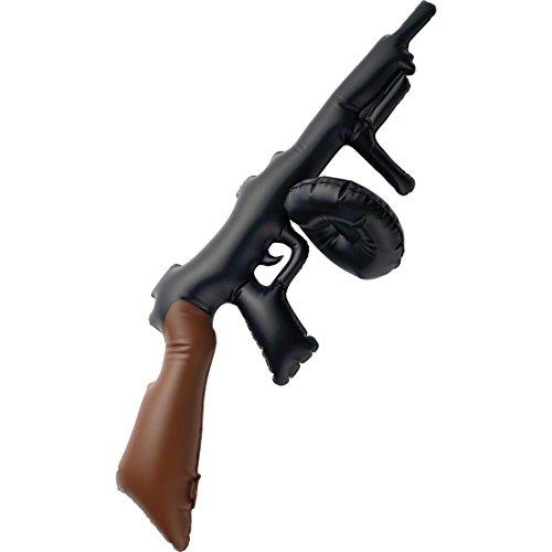 NET TOYS Finta arma da fuoco gonfiabile pistola mitragliatrice Mafia Gangster anni 20 Carnevale scherzo - lunghezza: ca. 75cm