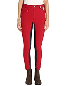 RTS 1003-184-34 - Riding Breeches Womens, Colour: Red - red / blue