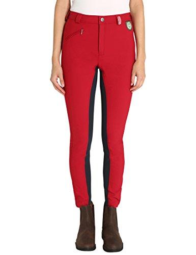Damen RTS Bentex Reithose mit Vollbesatz, rot-blau, 38, 1003-184