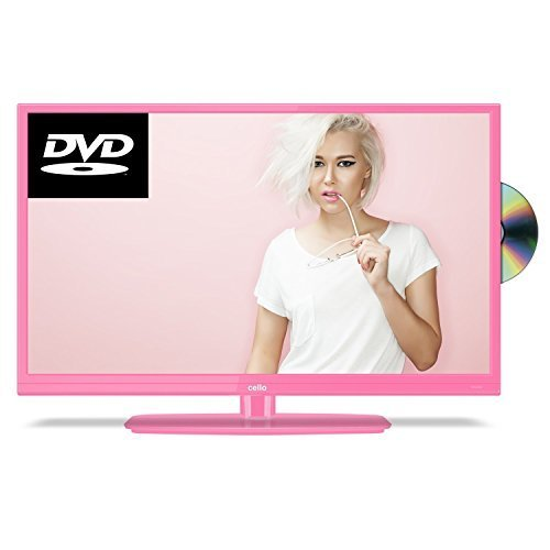 Cello C20230F 20 Inch Freeview LED TV with built-in DVD Player - Pink