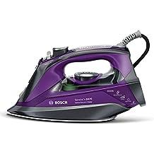 Bosch TDA703021I Sensixx`x DA70 i-Temp - Plancha de vapor, 3000 W, color gris y violeta