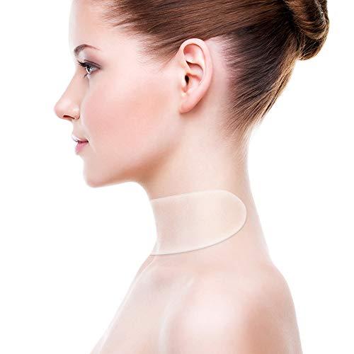 Silikon Hals Pad Anti Falten Pads Wiederverwendbar und Waschbar für einen Faltenfreieren, Strafferen Hals (2 PACK) -
