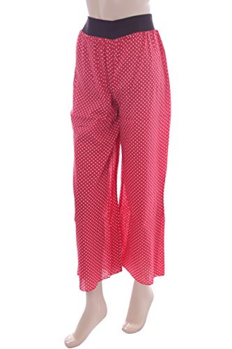 Ladies Red Polka Dot Palazzo Trousers. Sizes 10-12