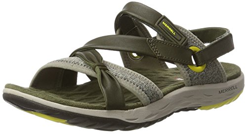 Merrell Damen Vesper Lattice Sandalen Grün (Dusty Olive)