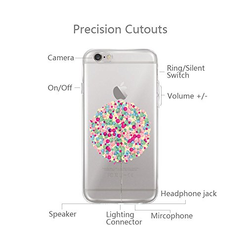 vanki® iPhone 6/6s hülle Tasten Lustig Schutzhülle Clear Case Cover Bumper TPU Silikon Handyhülle für iPhone 6/6s (4,7 Zoll) (Eating apple) Ballons