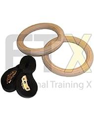 Anillas de gimnasia Gym Olympic anillas de gimnasia gimnasio anillos de Crossfit + cuerda