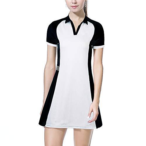 BEROY Tennis Kleid Damen Sportskort Hockey Golf Skort Rock Kleider für Frauen Mädchen Schwarz S