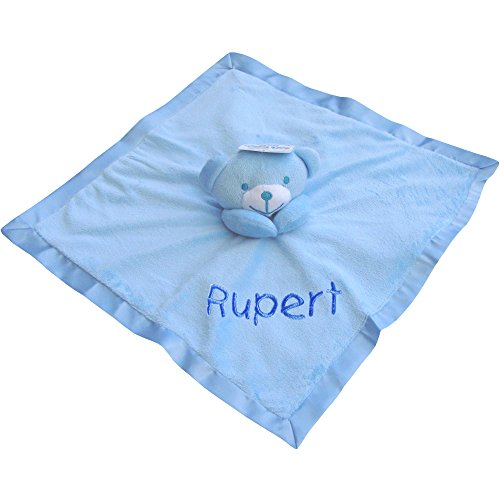 TeddyTs Baby Super Soft Personalised Comforter Blanket with 3D Teddy Bear (Blue)