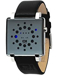 Binary THE ONE Gamma Ray GRQ116B1 - Reloj digital unisex de cuarzo con correa de piel negra