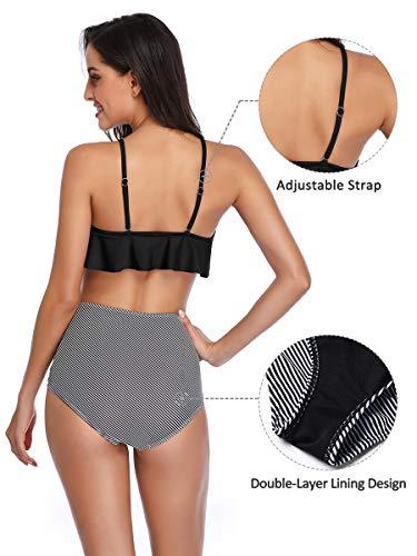 Summer Mae Damen Bikini-Set mit Volant Vintage Badeanzug - 3