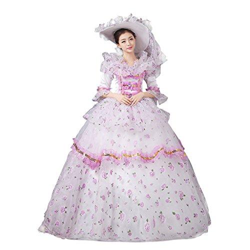 Cosplayitem Damen Mädchen Lagerter Gothic viktorianischen Kleid Kostüm -